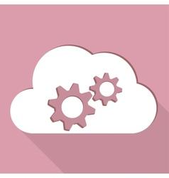Cloud application settings web icon vector image