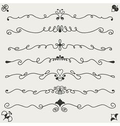 Hand drawn designe elements vector