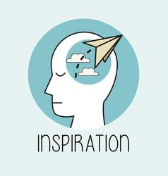 profile human head inspiration vector image