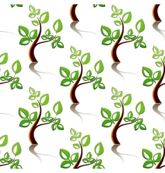 Seamless pattern of little trees vector image