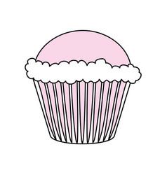 sweet cupcake dessert vector image vector image
