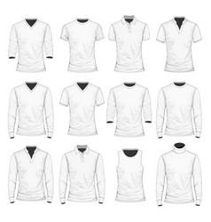 t-shirt polo shirt and other vector image