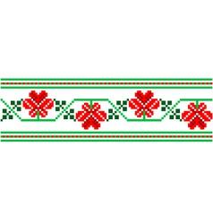 ukrainian embroidery vector image vector image