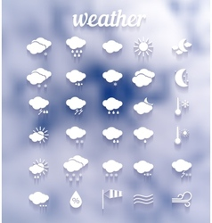 weather icon set eps10 vector image vector image