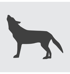 Wolf icon vector image