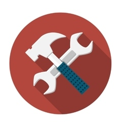 Wrench and hammer icon vector image vector image