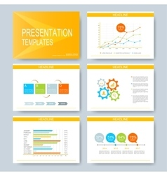 Yellow set of templates for multipurpose vector image