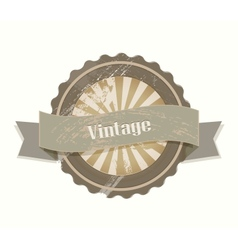 Blank retro vintage labels vector image