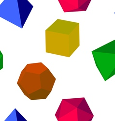 3d colorfull geometric shapes vector image
