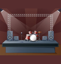 A drum at concert stage vector