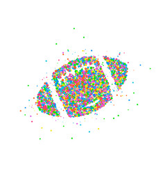 abstract rugball vector image