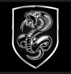 Animals art attack black cartoon cobra vector