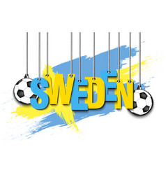 banner the inscription sweden vector image
