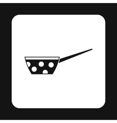 Black pot with white dots and handle icon vector