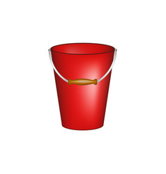 Bucket in red design vector