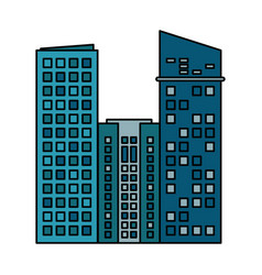 Building commercial business skyscraper vector