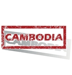 Cambodia outlined stamp vector