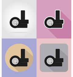 Car equipment flat icons 16 vector
