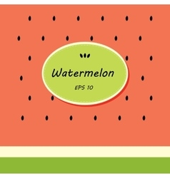 Card template design with watermelon vector image