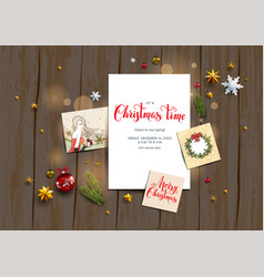 card with festive card vector image