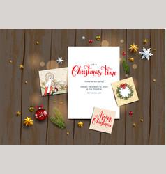 card with festive card vector image