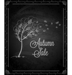 chalkboard autumn tree vector image