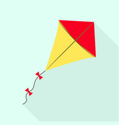 Childhood kite icon flat style vector