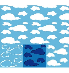 clouds seamless vector image
