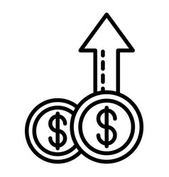 coin money report icon outline style vector image