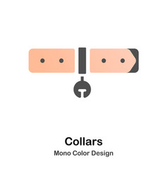 Collars mono color icon vector