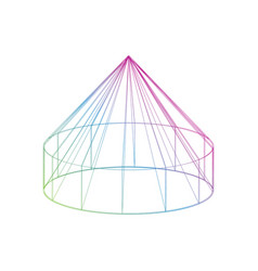 Color yurt icon on the white background vector