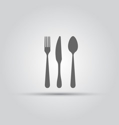 Cutlery isolated silhouette vector