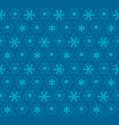 deep blue snowflake seamless pattern vector image