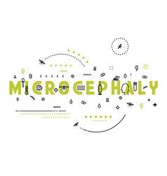 Design concept microcephaly vector