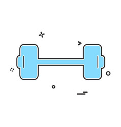 dumbell icon design vector image