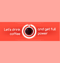 espresso coffee cup like sign power button vector image