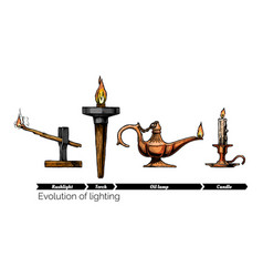 evolution lighting vector image
