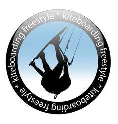 extreme sport kiteboarding jump freestyle rider vector image