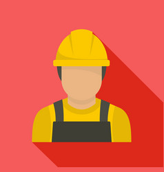 Factory worker icon flat style vector