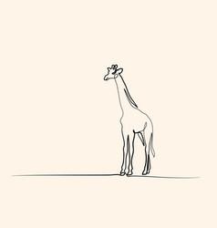 giraffe walking symbol vector image