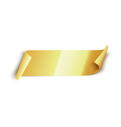 gold ribbon isolated on white banner vector image