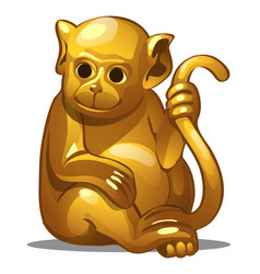 Golden figure of monkey chinese horoscope symbol vector