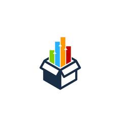 graph box logo icon design vector image