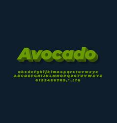 Green avocado text effect design vector