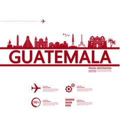 guatemala travel destination vector image