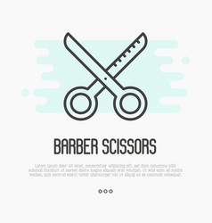 hairdresser scissors thin line icon vector image vector image