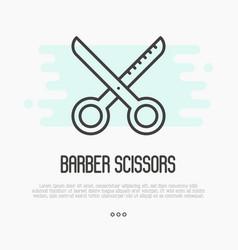 hairdresser scissors thin line icon vector image