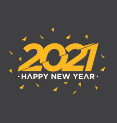 Happy new year 2021 slice style vector
