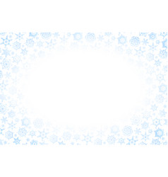 Horizontal christmas frame with lots of blue vector