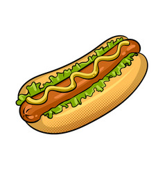 Hot dog pop art vector